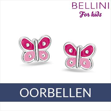 Bellini zilveren kinder oorbellen