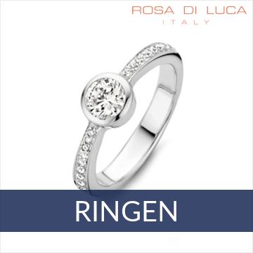 Rosa di Luca - ringen met zirkonia's