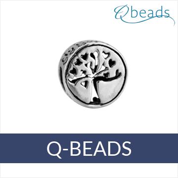 Q-Beads zilveren bedels